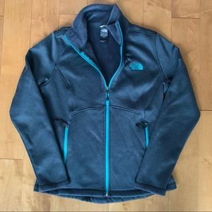TNF The North Face Gray Zip Jacket M
